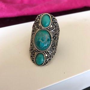 Antique Vintage Style Filigree Ring